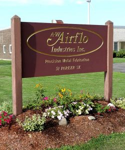 A-W Airflo Industries - Precision Metal Fabrication - Company Sign